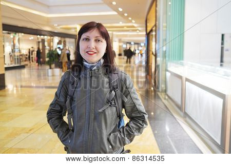 Smiling woman at the Shopping Mall