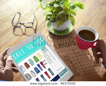 Digital Online Marketing Sale Shopping Concept