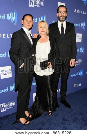 LOS ANGELES - MAR 21:  Patricia Arquette, Eric White at the 26th Annual GLAAD Media Awards at the Beverly Hilton Hotel on March 21, 2015 in Beverly Hills, CA