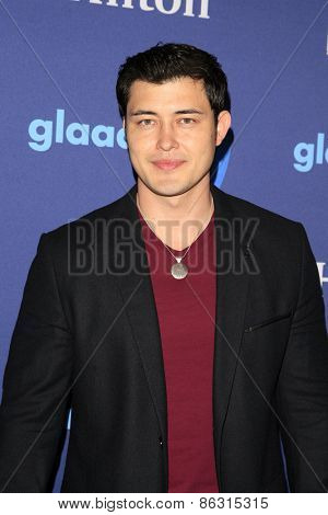 LOS ANGELES - MAR 21:  Christopher Sean at the 26th Annual GLAAD Media Awards at the Beverly Hilton Hotel on March 21, 2015 in Beverly Hills, CA