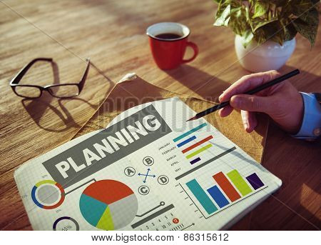 Planning Ideas Data Goals Office Working Concept