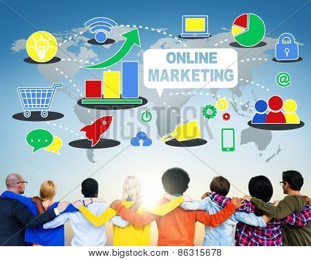 Global Business Online Marketing Planning Concept