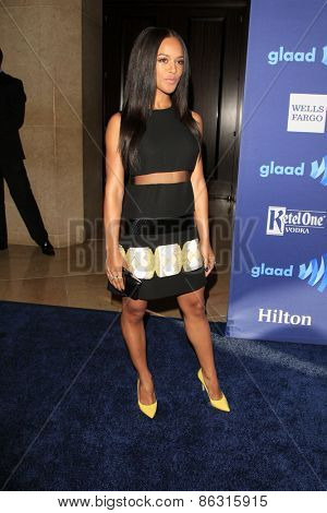 LOS ANGELES - MAR 21:  Serayah McNeill at the 26th Annual GLAAD Media Awards at the Beverly Hilton Hotel on March 21, 2015 in Beverly Hills, CA