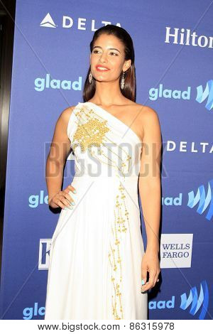 LOS ANGELES - MAR 21:  Jessica Clark at the 26th Annual GLAAD Media Awards at the Beverly Hilton Hotel on March 21, 2015 in Beverly Hills, CA