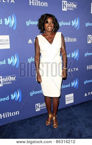 LOS ANGELES - MAR 21:  Viola Davis at the 26th Annual GLAAD Media Awards at the Beverly Hilton Hotel on March 21, 2015 in Beverly Hills, CA