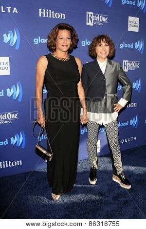 LOS ANGELES - MAR 21:  Alexandra Billings, Jill Soloway at the 26th Annual GLAAD Media Awards at the Beverly Hilton Hotel on March 21, 2015 in Beverly Hills, CA