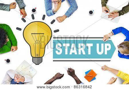 Startup Ideas Creativity Inspiration Success Concept