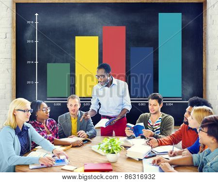 People Meeting Graph Growth Success Concept