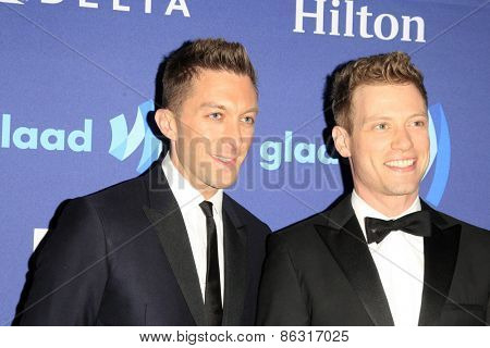 LOS ANGELES - MAR 21:  Barrett Foa at the 26th Annual GLAAD Media Awards at the Beverly Hilton Hotel on March 21, 2015 in Beverly Hills, CA