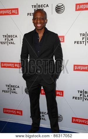 LOS ANGELES - MAR 23:  Thomas Ikimi at the 2015 Tribeca Film Festival Official Kick-off Party at the The Standard on March 23, 2015 in West Hollywood, CA