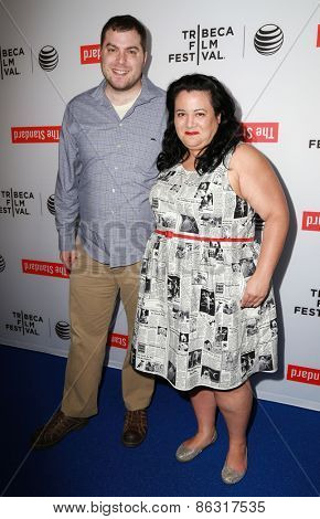 LOS ANGELES - MAR 23:  Andrew Carlberg, Jenelle Riley at the 2015 Tribeca Film Festival Official Kick-off Party at the The Standard on March 23, 2015 in West Hollywood, CA
