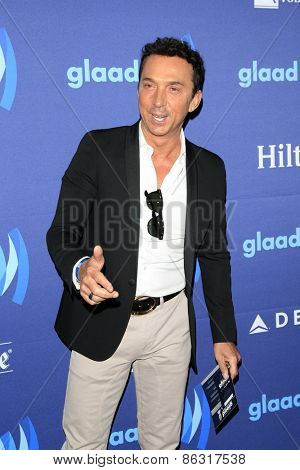 LOS ANGELES - MAR 21:  Bruno Tonioli at the 26th Annual GLAAD Media Awards at the Beverly Hilton Hotel on March 21, 2015 in Beverly Hills, CA
