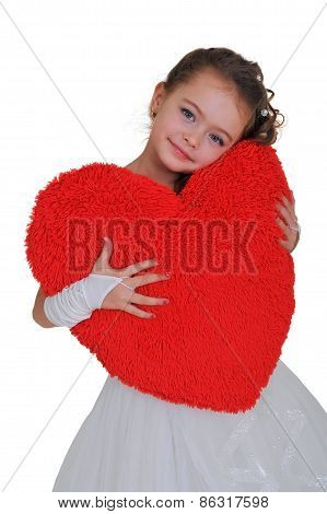 Big Red Heart In The Hands Of A Girl