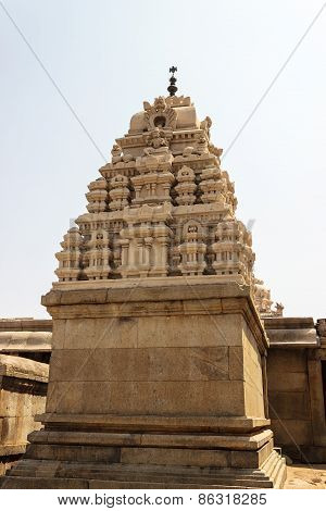 Gopura of Veerabhadra temple captured at Lepakshi, Andhra Pradesh, India