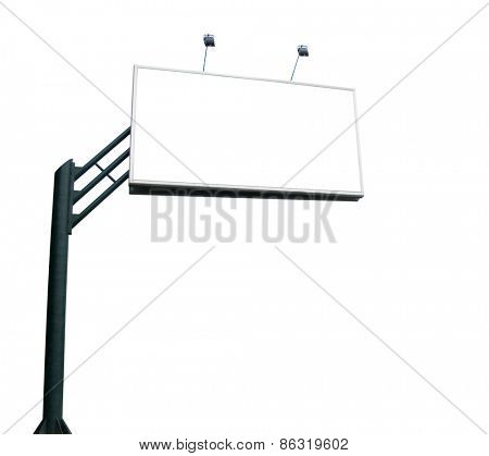 advertising billboard on white background