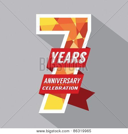 7Th Years Anniversary Celebration Design.
