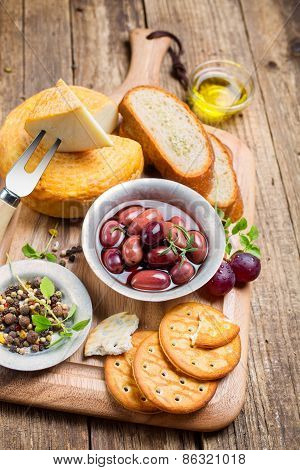 Greek Olives And Cheese
