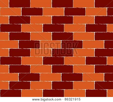 brick wall seamless Vector illustration background - texture pattern for continuous replicate