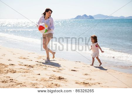 Mom Playing With Her Daughter