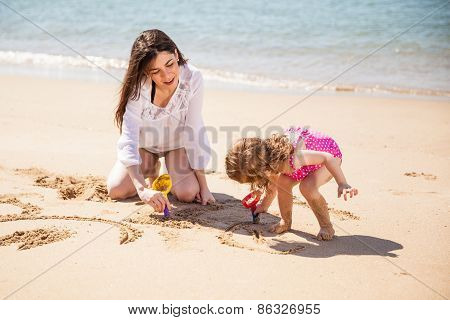 Relaxing At The Beach Together