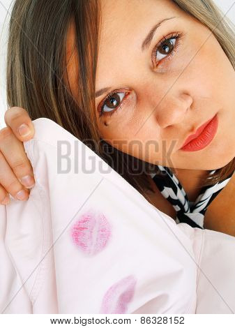Lipstick On Shirt
