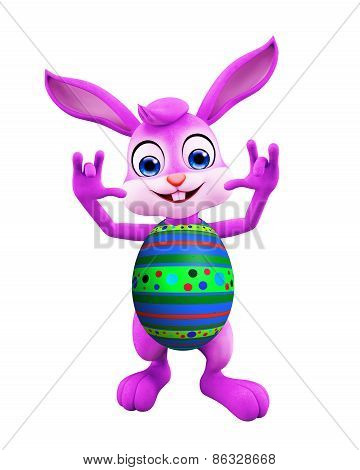 Easter Bunny With Funny Pose