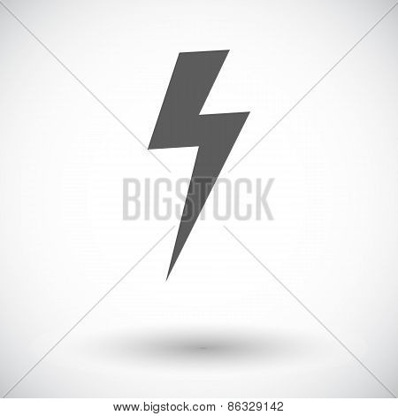 Lightning Bolt single icon.