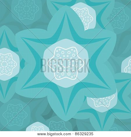 Turquoise flower illustration