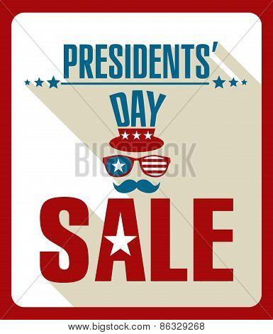 Presidents day retro background.