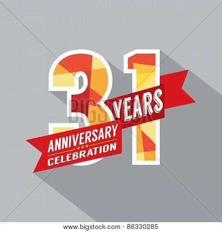31St Years Anniversary Celebration Design.