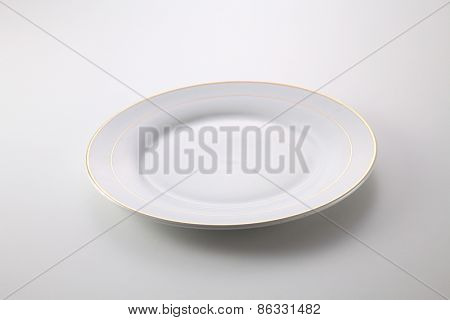 empty plate on the white background