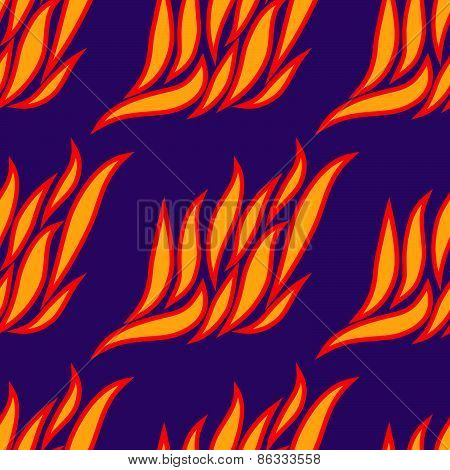 Seamless Pattern Of Fire