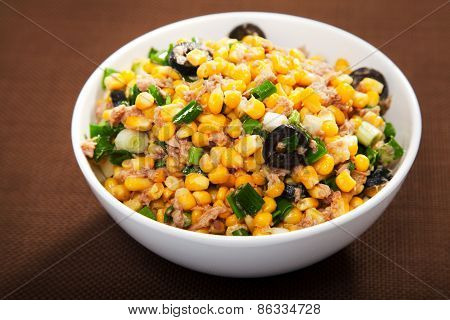 Salad With Tuna Fish And White Corn