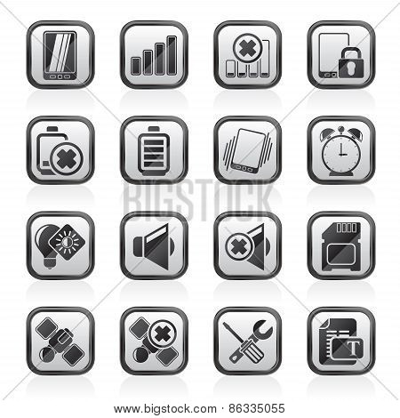 Mobile Phone sign icons