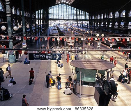 Gare due Nord, Paris.