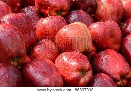 Red Apples In Market.