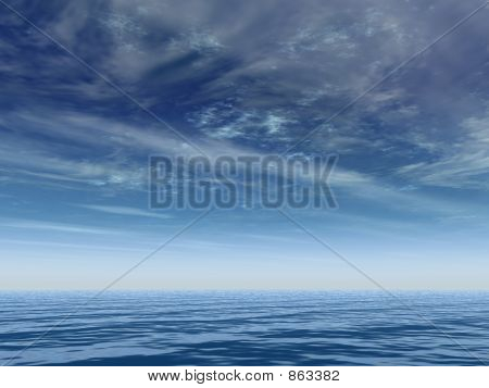 deep blue horizon