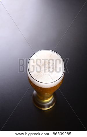 Tall Glass Of Light Beer