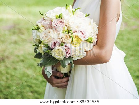 Beautiful Wedding Flowers In Hands