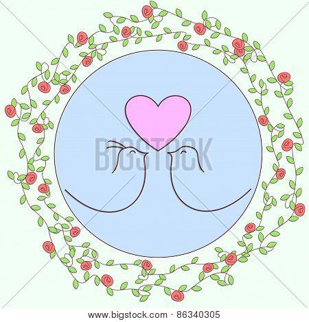 Love birds floral design