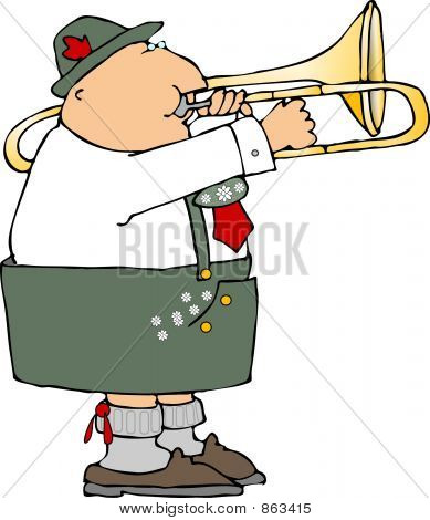 German Trombone Player