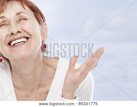Sixty years woman in good mood