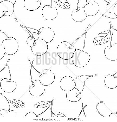 Delightful Garden - Seamless Pattern Of A Lot Of Cherries 3