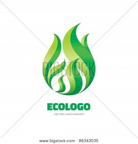 Ecologo - vector logo concept illustration. Leaf logo. Leave logo. Nature logo. Vector logo template