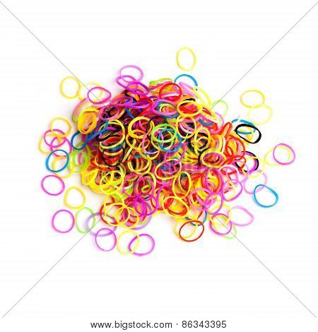 Pile Of Small Round Colorful Rubber Bands