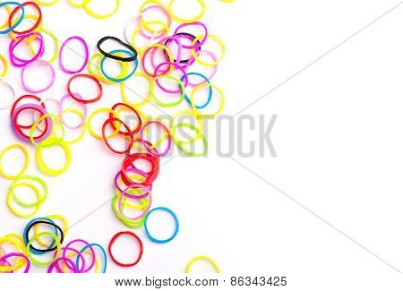 Small Round Colorful Rubber Bands For Loom Bracelets