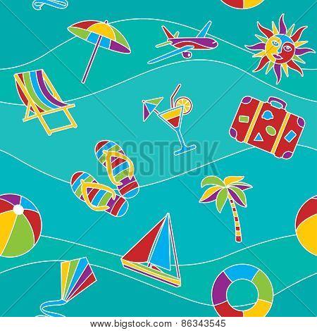 Vacation seamless pattern