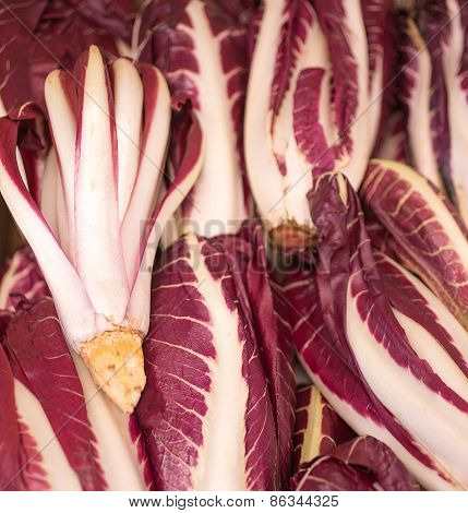 Red Radicchio For Sale Fresh From The Grocery Store