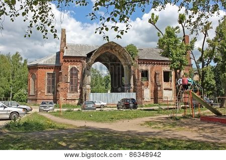 Ruins Of The Church Of Our Lady Of Mount Carmel In Russia