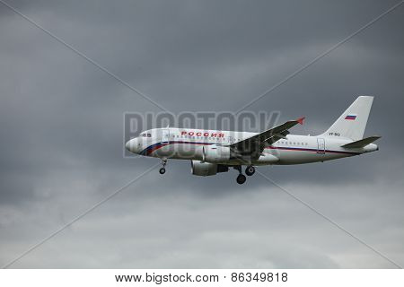 airliner flight in the sky